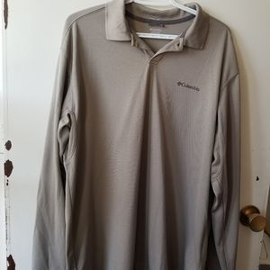 Columbia Men's Taupe Collared Polo Size Large